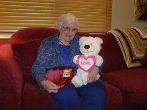 Mom on Valentines Day 2012 - Love You Mom!